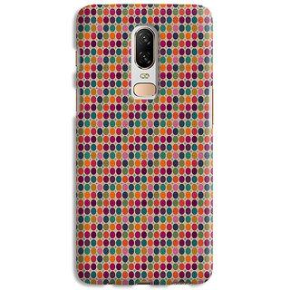 PrintVisa Colorful Patterns Designs Black Zig Zag Designer Printed Hard Back Case Cover For One Plus 6 - Multicolor