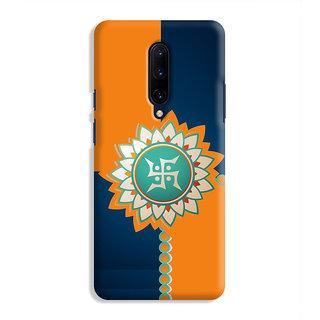PrintVisa Gold Ganapati Ganesh Ganesha Sloka Designer Printed Hard Back Case Cover For OnePlus 7 Pro - Multicolor