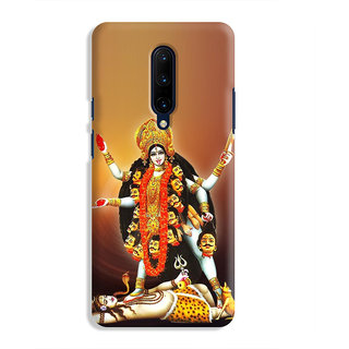PrintVisa Durga Amba Mataji Kali Mahishasurmardini Mahadev Designer Printed Hard Back Case Cover For OnePlus 7 Pro - Multicolor
