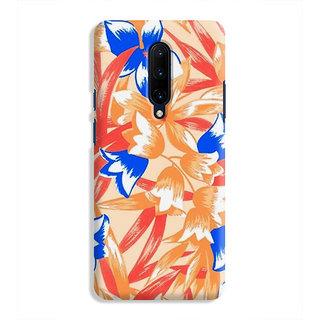 PrintVisa Flowers Theme Floral Love Lovely Gift Designer Printed Hard Back Case Cover For OnePlus 7 Pro - Multicolor