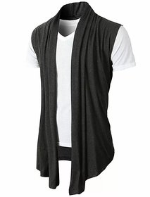 Pause Multi Solid Shawl Collar Slim Fit Short Sleeve Men'S Cardigan