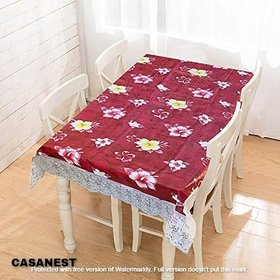 CASA-NEST Dining Table Cover Waterproof 6 Seater 60X90 Inches