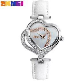 Skmei 9161 Fashion Quartz Heart Shape Women Watch