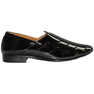 Patent Leather Ethnic juti For Men's