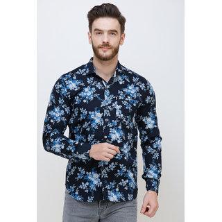 Colvyn Harris Men's casualwear Full Sleeve Shirt Collar Luxury Navy Blue Shirt