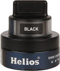 Helios Leather Shoe Cream with Applicator - Black