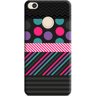 PrintVisa Multicolor Lines Multipattern Designer Printed Hard Back Case Cover For Redmi 4 - Multicolor