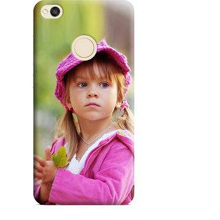 PrintVisa Cute Girl Garden Cap Designer Printed Hard Back Case Cover For Redmi 4 - Multicolor