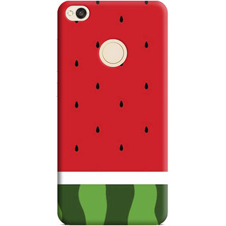 PrintVisa Wartermelon Fruits Fal Green Hara Tarbuz Designer Printed Hard Back Case Cover For Redmi 4 - Multicolor