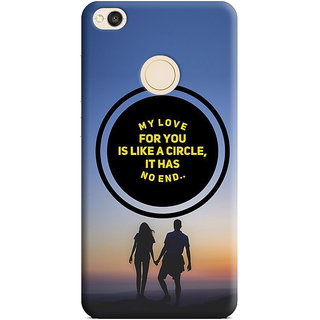 PrintVisa My Love For You Is Like Circle Never End Round Couple Designer Printed Hard Back Case Cover For Redmi 4 - Multicolor