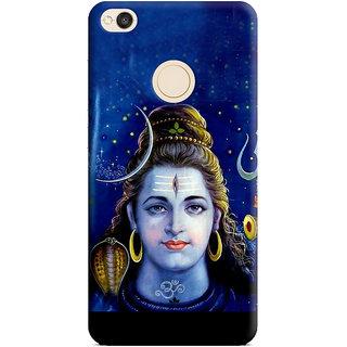 PrintVisa Mahadev Shiv Shankar God Designer Printed Hard Back Case Cover For Redmi 4 - Multicolor