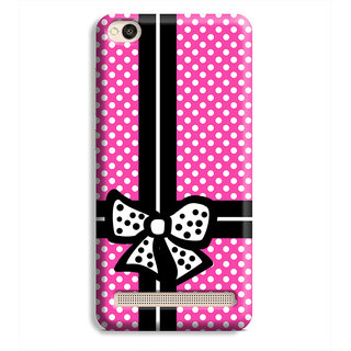 PrintVisa White Dots Pink Box Designer Printed Hard Back Case Cover For Redmi 5A - Multicolor