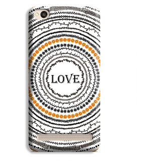 PrintVisa Multicircle Multipattern Love Designer Printed Hard Back Case Cover For Redmi 4A - Multicolor