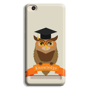 PrintVisa Owl Art Symbol Knowledge Degree Designer Printed Hard Back Case Cover For Redmi 4A - Multicolor