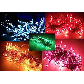 Alpha Pro PVC Rice Light Serial String Bulbs (Ladi) Decoration Lighting Multi Color for Festivals No of Pieces