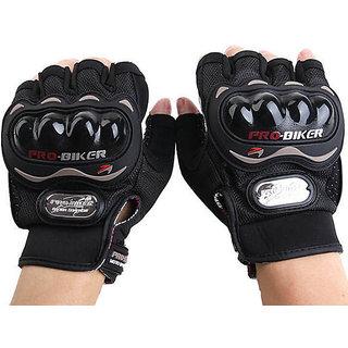 Fashno Probiker Half Black Color Riding Gloves