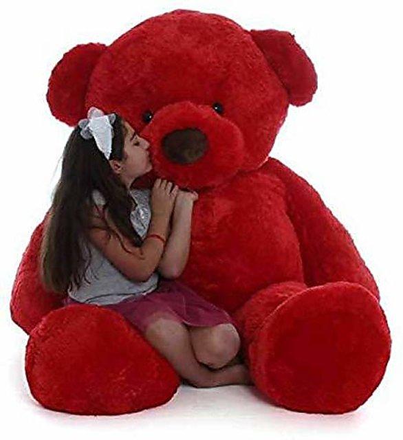 Red Teddy Bear 5 Feet, Buy Teddy Bear 5 Feet Soft Red 152cm Online 1499 From Shopclues
