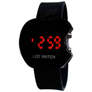 PFN Digital led watch apple shape black colour mens and boys watch
