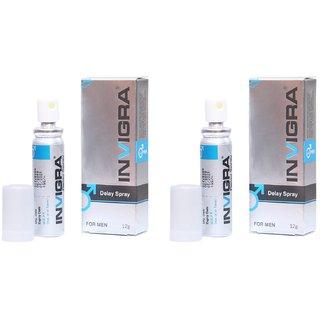Invigra Spray For Men - Power Booster Spray - Stamina  Energy Booster - Men's Power Booster (Pack Of 2)