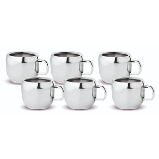 Kloud 9 Double Wall Apple Tea / Coffee Cups - Pack of 6 pcs