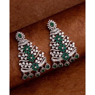 Voylla Floral Motif Drop Earrings