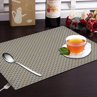 CASA-NEST 4 Piece Dining Table Placemats - Black Greay