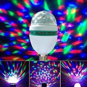 ROYALDEAL LED Mini Disco Light/Party Lamp Crystal Rotating Bulb Magic Disco LED Light for Party/Home/Diwali Decoration