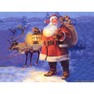 santa new Sticker Poster|Christmas poster|size:12x8 inch |Sticker Paper Poster, 12x18 Inch