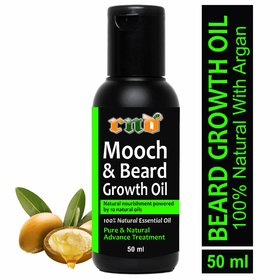 RND Mooch and Beard Growth Oil Hair Oil  (50 ml) (RND-GREEN BEARD-50ML)