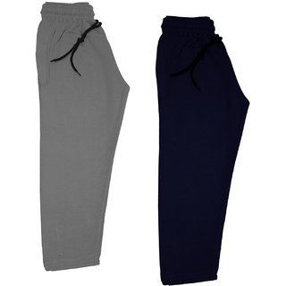 IndiWeaves Boys and Girls Solid Fleece Warm Lowers Track Pants for Winters (Pack of 2)