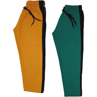 IndiWeaves Boys and Girls Fleece Warm Lowers Track Pants for Winters (Pack of 2)