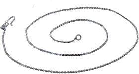 Lucky Jewellery Designer Rhodium Polish German Silver Chain Necklace For Men & Women (30-A3C-618-R16)