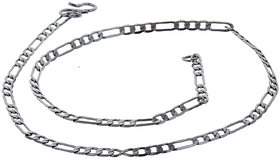 Lucky Jewellery Designer Rhodium Polish German Silver Link Chain Necklace For Men & Women (53-A3C-2708-R16)