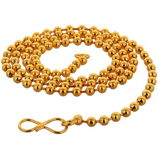 Lucky Jewellery Designer Gold Plated Matar Mala Long Chain Necklace For Men & Women (44-A3C-2721-G22)