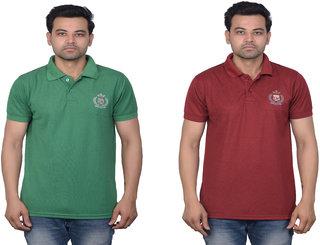 La Milano Men's Embrorderied Cotton Casual Polo T-Shirt