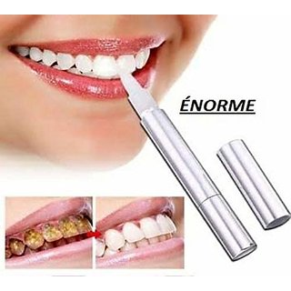 norme Teeth Whitening Pen Scaler Gels Tooth Bleaching Dirt Soot Black Tooth Soft Brush Dental Cleaning Oral Hygiene Whitening Device : Yellow