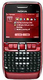 Nokia E63 Mobile Phone Red