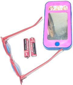 Nawani Toys Mobile Phone with Amazing Sound and Light Toy Come in Random Print, Size -15X7X2 cm