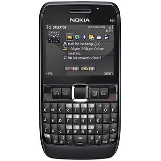 Nokia E63 Black Mobile Phone With 3 Months Manufacturer Warranty