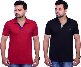 La Milano Men's Solid Cotton Polo T-shirt
