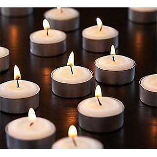 Candles Jasmine Wax Tealight Candle Scented Smokeless Candles for Home Decoration Diwali Festival Set of 10 by REBUY
