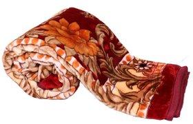 Earth ro system Winter Soft Double Bed Mink Floral Blanket Reveresible Blanket  ( Size 220 x 230cm)  Free Blanket Bag