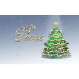 peace christmas tree Sticker Poster|Christmas poster|size:12x8 inch |Sticker Paper Poster, 12x18 Inch