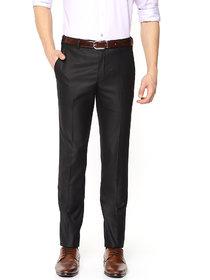 Haoser Black Cotton trousers for mens formal ,Black trouser Men's