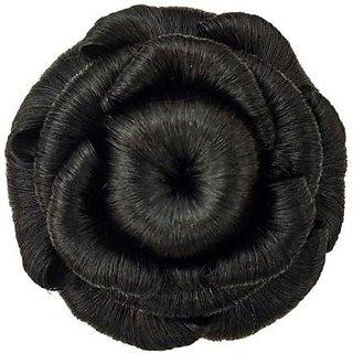 Jasmina hair accessory hair  Bun  artificial hair bun (Black)