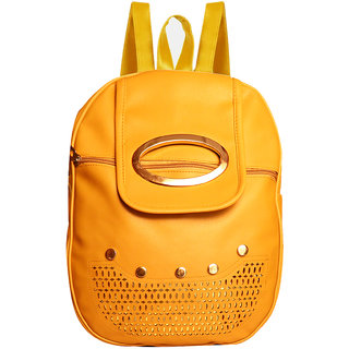 YELLOW BACKPACK FOR GIRLS 10 L Backpack  (Yellow)