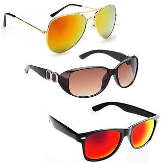 Vitoria Stylish & Fashionable Sunglasses With Box For Women & Girls (Pack Of 3)