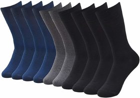 Bravo Multicolor Cotton Casual Full Length Socks For Men Pack of 5 Pairs (Assorted Color)