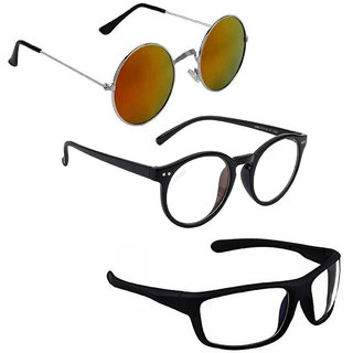 Vitoria Stylish & Fashionable Sunglasses With Box For Men Women & Boys Girls (Pack Of 3)