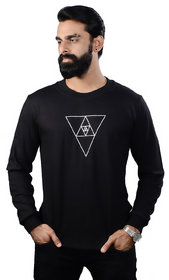 The Royal Swag Men's Cotton Full Sleeve T-Shirt - Minimalist Triforce